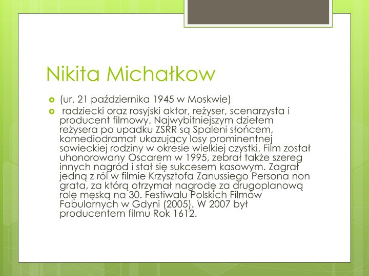 Nikita Michałkow