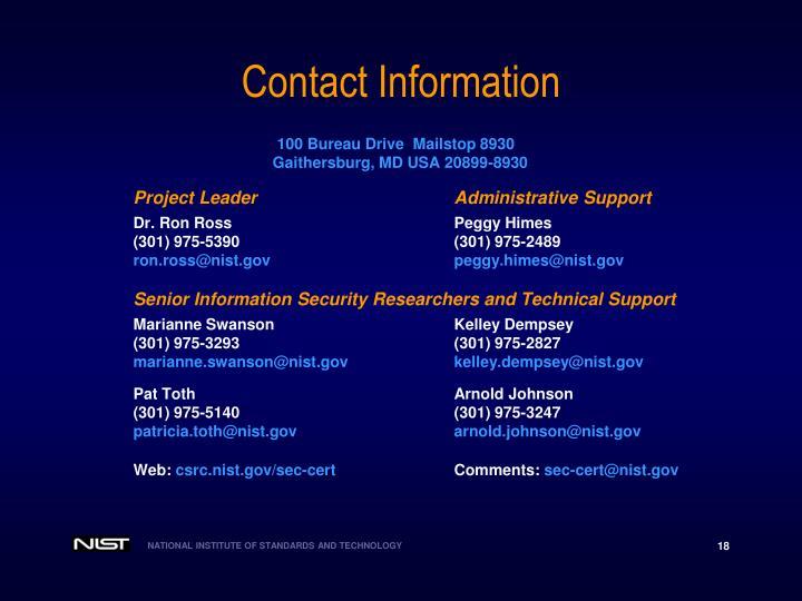 100 Bureau Drive  Mailstop 8930