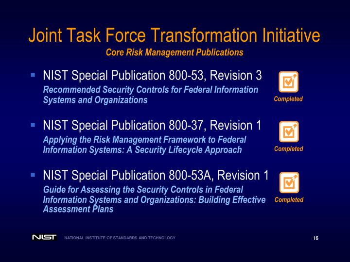 Joint Task Force Transformation Initiative