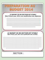 preparation au budget 2014