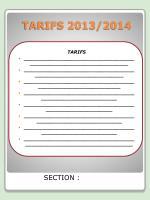 tarifs 2013 2014