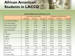 african american students in laccd