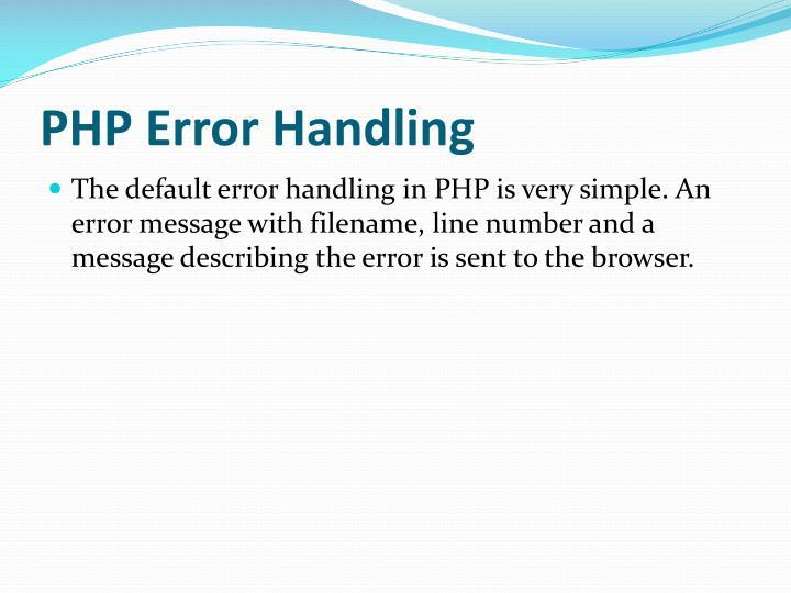 error handling in c pdf