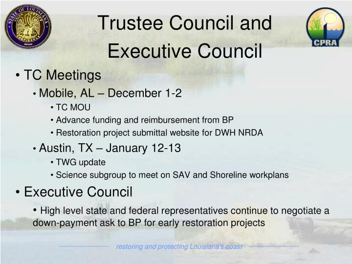 Trustee Council and