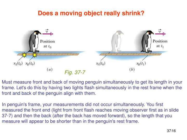 Does a moving object really shrink?