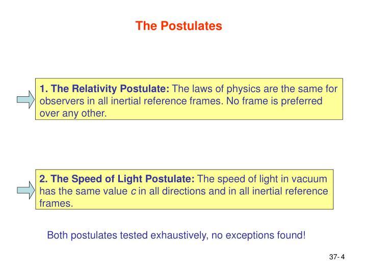 The Postulates