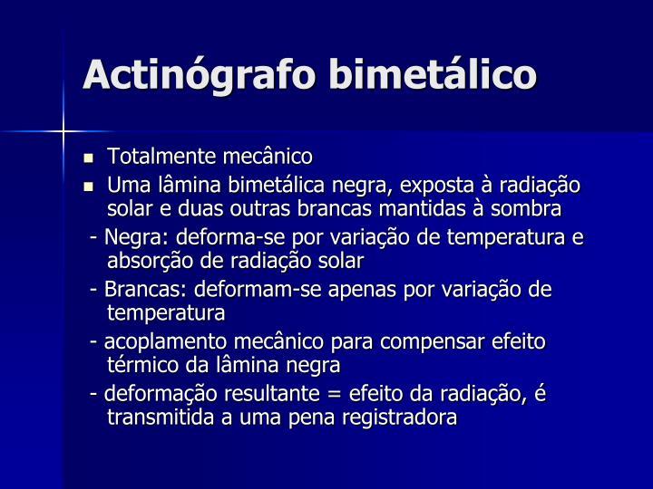 Actinógrafo bimetálico