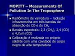 mopitt measurements of pollution in the troposphere