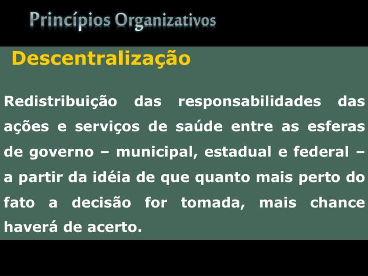 Princípios Organizativos