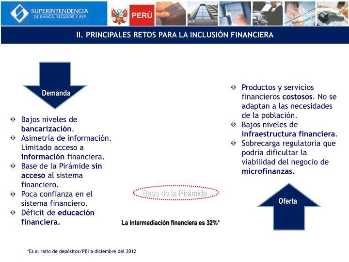 II. PRINCIPALES RETOS PARA LA