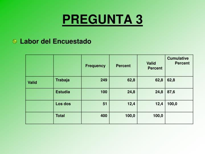 PREGUNTA 3