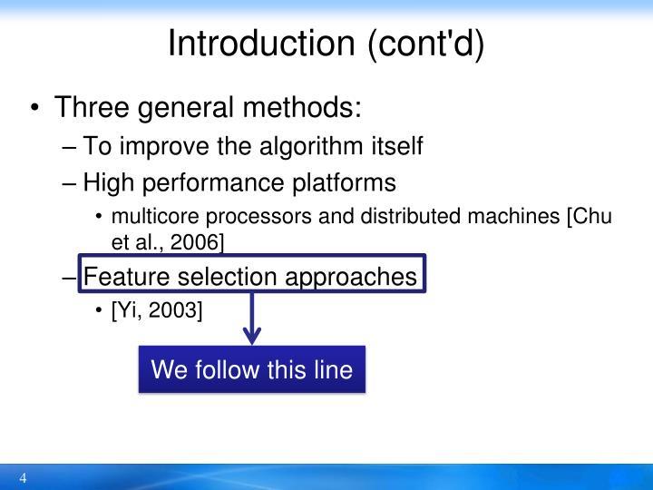 Introduction (cont'd)