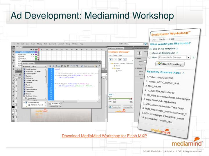 Ad Development: Mediamind Workshop