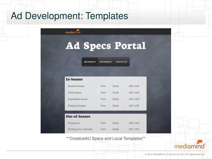 Ad Development: Templates