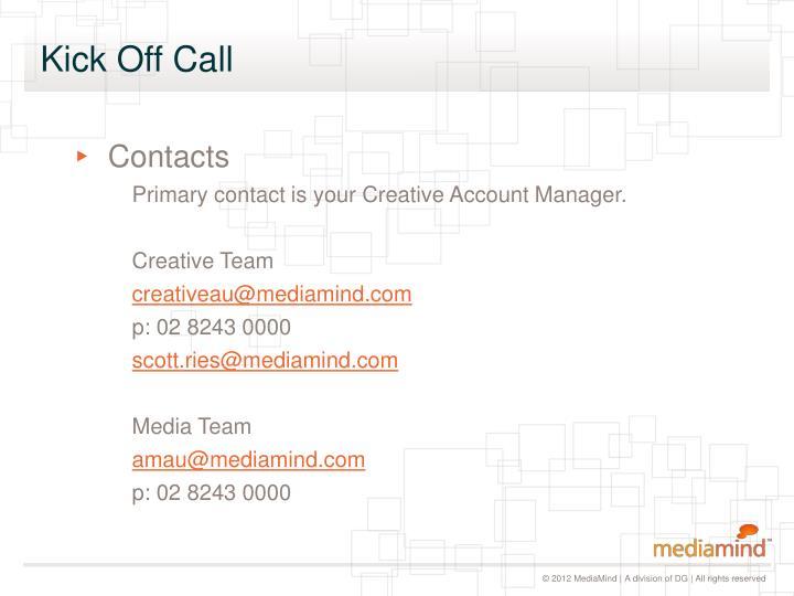 Kick Off Call
