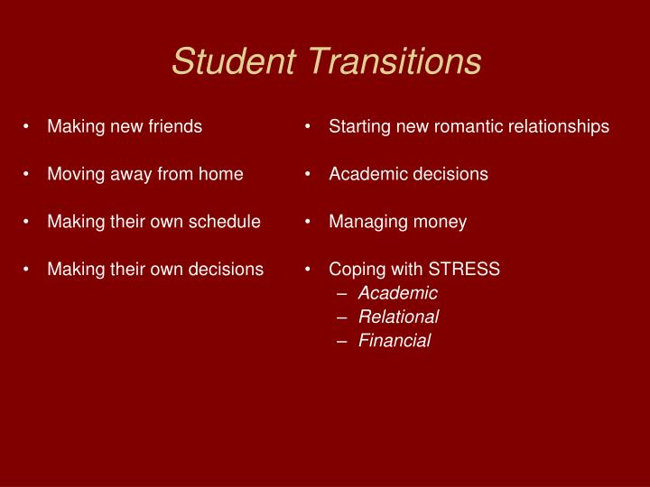 Student Transitions