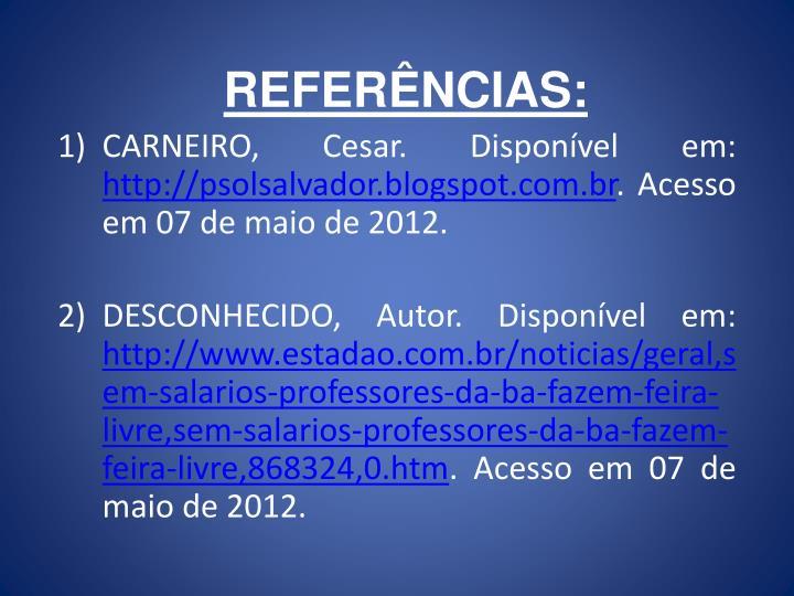 REFERNCIAS: