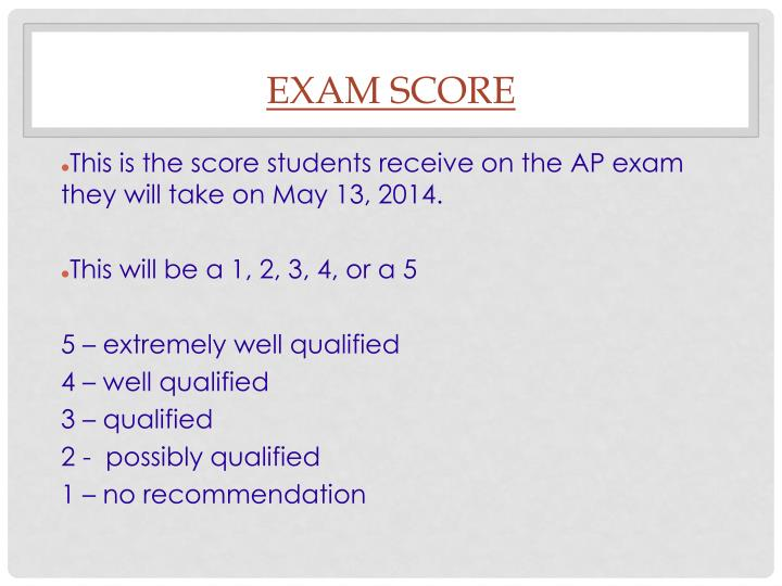 Exam Score