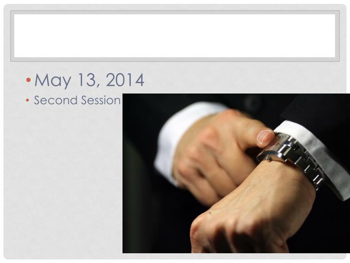 May 13, 2014