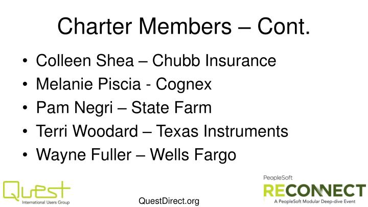 Charter Members – Cont.