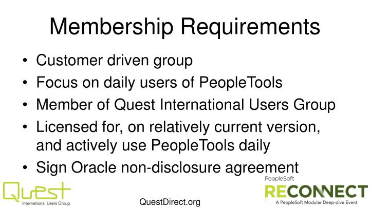 Membership Requirements
