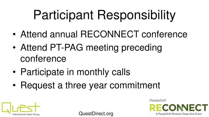 Participant Responsibility