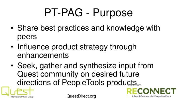 PT-PAG - Purpose