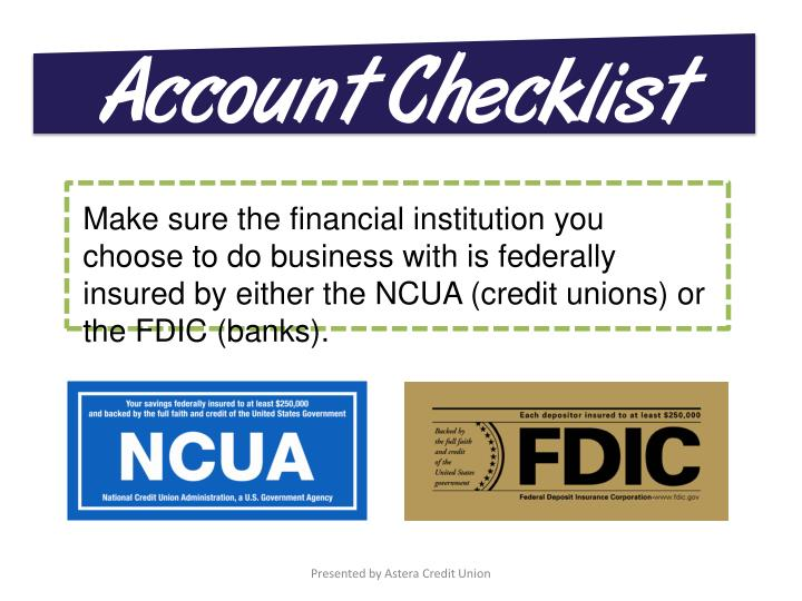 Account Checklist