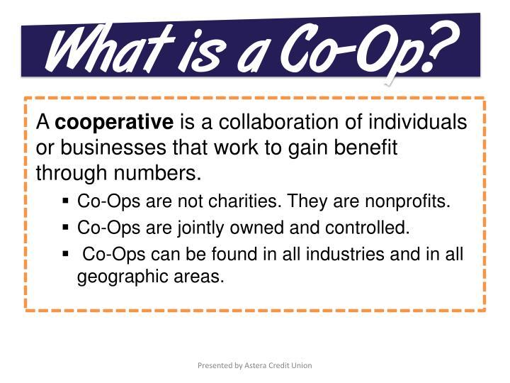 What is a Co-Op?