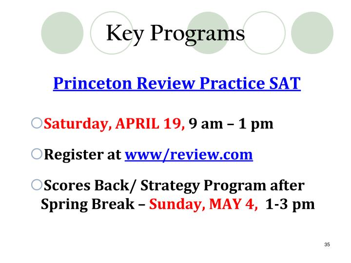 Key Programs
