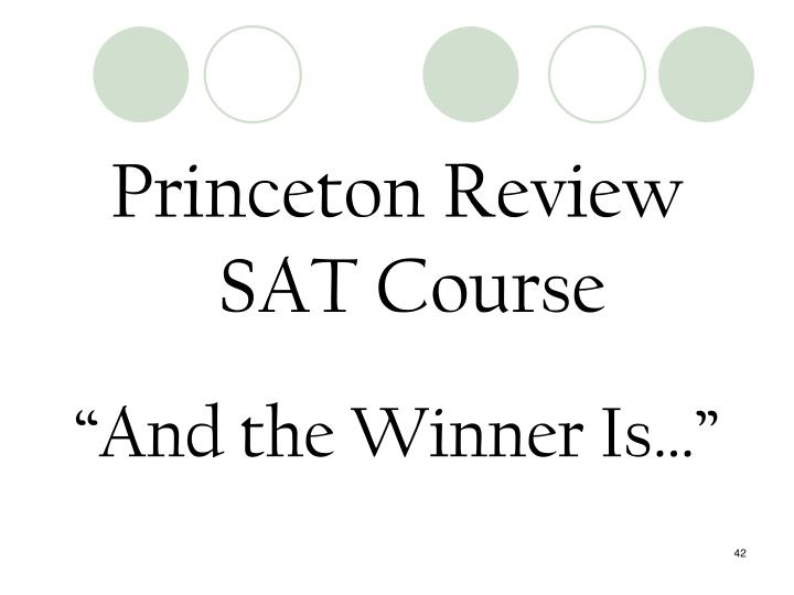 Princeton Review SAT Course