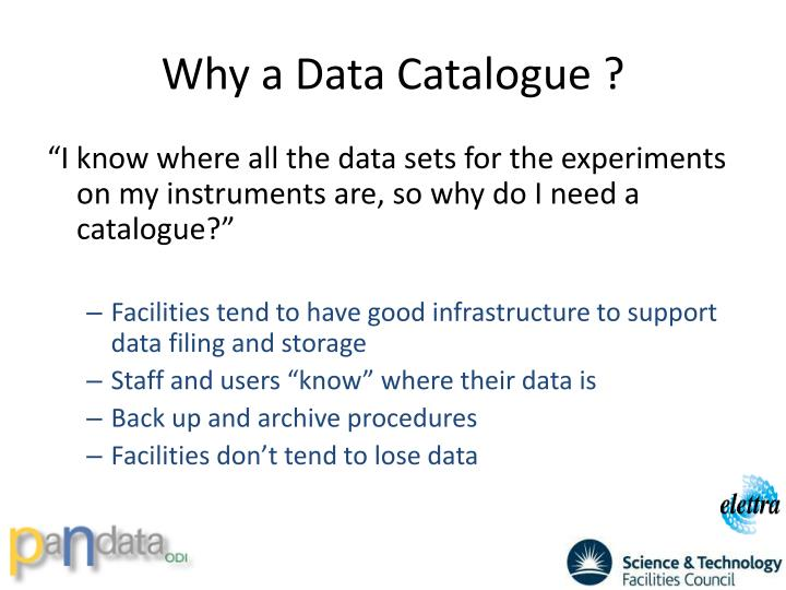 Why a Data Catalogue ?