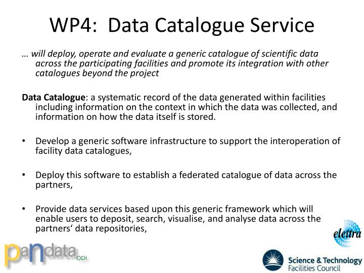 WP4:  Data Catalogue Service