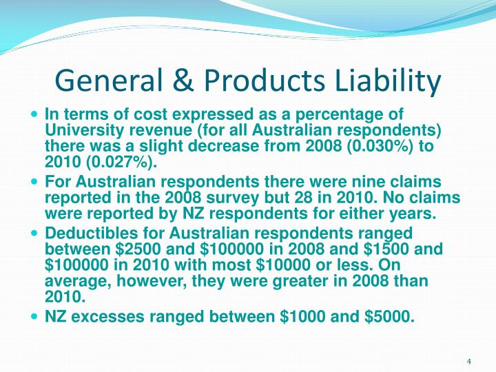 General & Products Liability