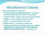 miscellaneous classes