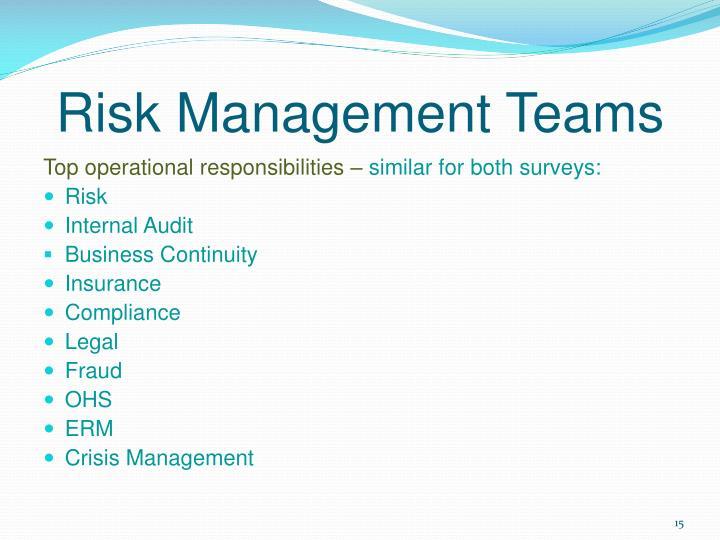 Risk Management Teams