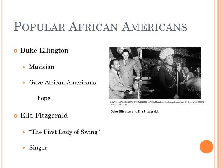 Popular African Americans
