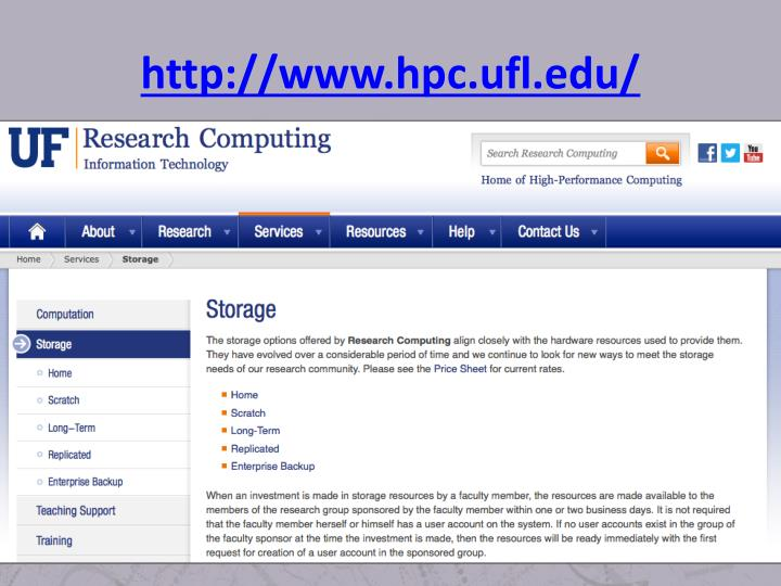 http://www.hpc.ufl.edu/