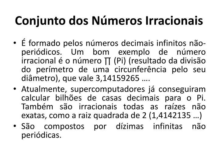 Conjunto dos Números Irracionais