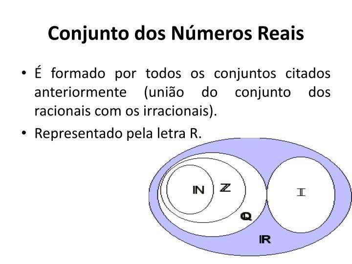 Conjunto dos Números Reais