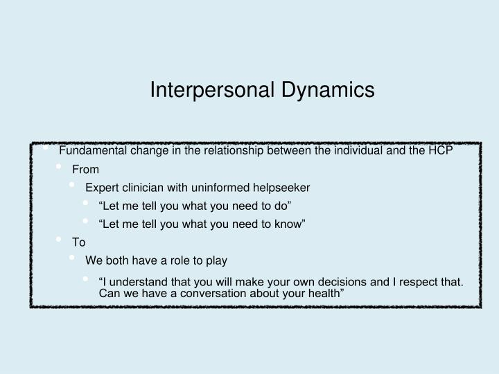 Fundamental change in the relationship between the individual and the HCP