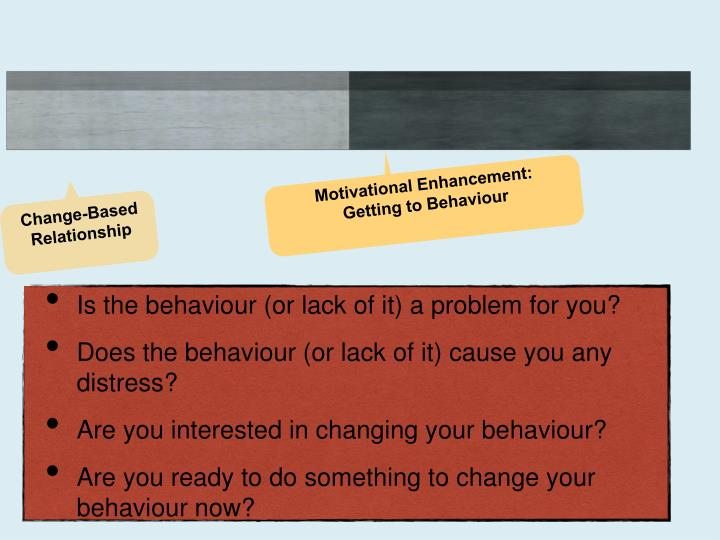 Is the behaviour (or lack of it) a problem for you?