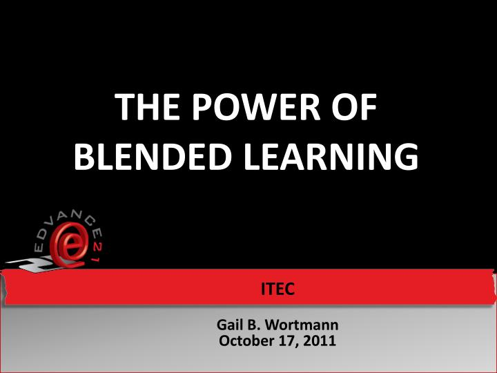 the power of blended learning