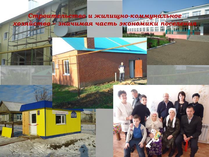 Строительство и жилищно-коммунальное хозяйство – значимая часть экономики поселения