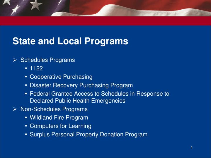 state and local programs