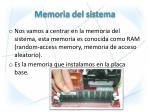 memoria del sistema