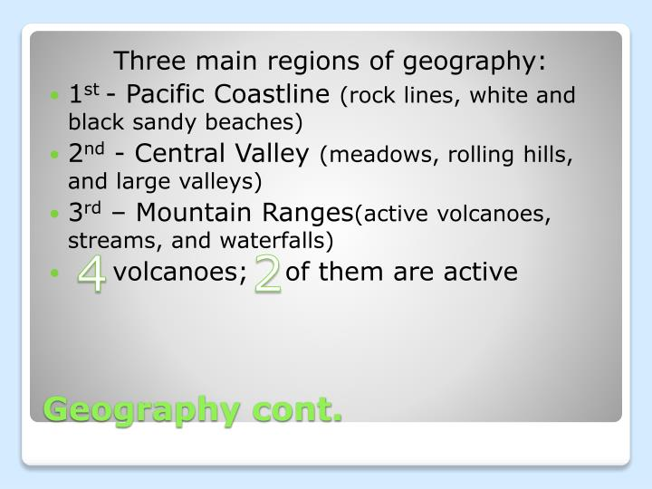 Geography cont