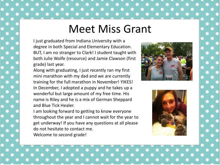 Meet Miss Grant