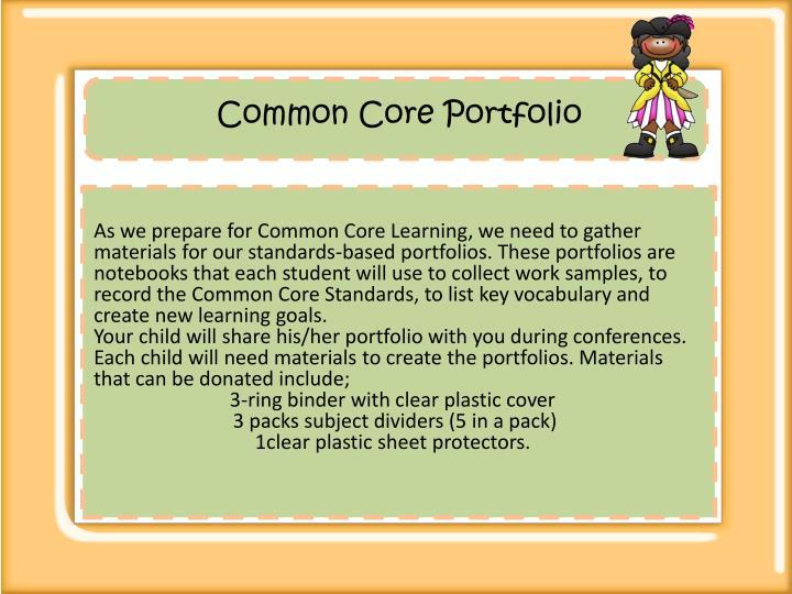 Common Core Portfolio
