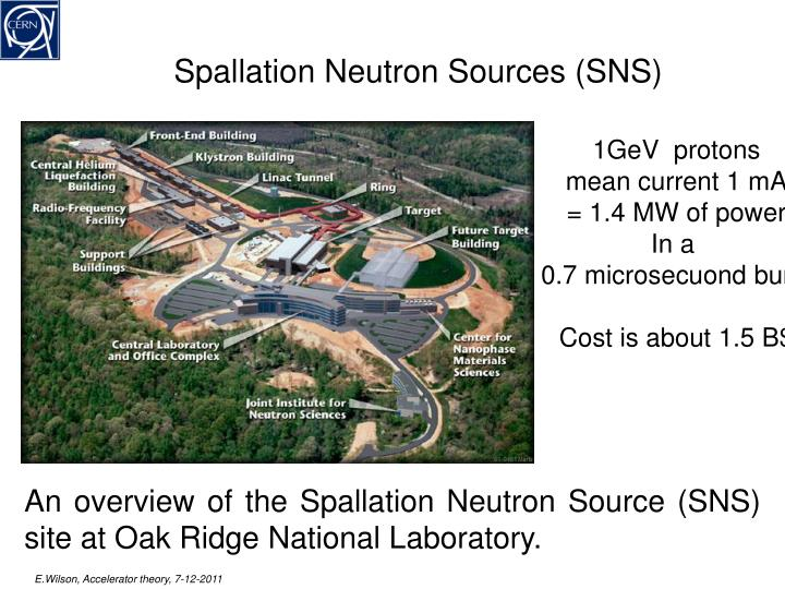 Spallation Neutron Sources (SNS)